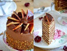 Search Results Pasca Cake Recipes, Dessert Recipes, Dessert Ideas, Hungarian Cake, Sweet Corner, Romanian Food, Chocolate Recipes, Chocolate Cakes, Drip Cakes