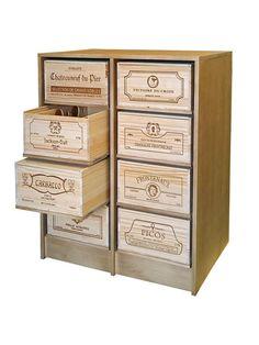 WINEREX vinreol KASANDRA til 8 vinkasser (12 stk. kasser)