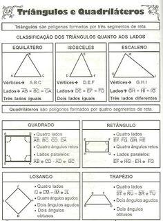 .....ASAS PARA VOAR - 4º ANO: Classificação Triângulos e Quadriláteros