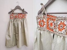 Kumaşla Örgü Kız Çocuk Elbise Modelleri ve Yapılışı 92 - Mimuu.com
