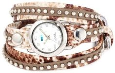 Discount La Mer Collections Women's LMSW5007 Army Snake Bali Studs Wrap Watch Large selection at low prices - http://greatcompareshop.com/discount-la-mer-collections-womens-lmsw5007-army-snake-bali-studs-wrap-watch-large-selection-at-low-prices