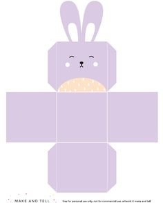 Over 25 bunny craft ideas and diy projects bunny crafts bunny and httpmakeandtelldiy printable easter bunny negle Choice Image