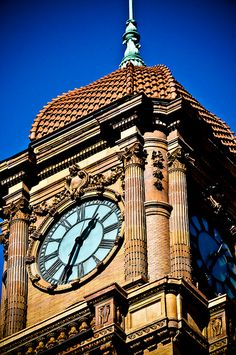 Old Main Street Train Station Clock Tower Richmond VA