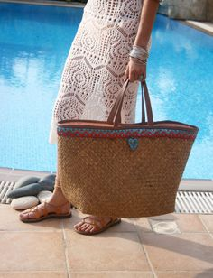 Leather Straw Beach Bag. Straw Beach Bag. Large Beach Tote. Straw Tote Bag. Beach Tote. Tote Bag. Large Straw Tote. Free Shipping.  The Indiana
