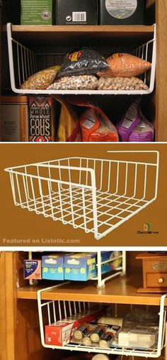 kitchen pantry storage Are you always looking for some tips and tricks to improve the storage space in your kitchen pantry? If the answer is Yes, then you will get them here. Pantry Storage Cabinet, Storage Cabinets, Storage Shelves, Storage Ideas For Pantry, Pantry Storage Containers, Storage Closets, Kitchen Shelves, Kitchen Pantry, Kitchen Storage