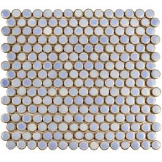 SomerTile 12 x 12.625-inch Penny Frost Mosaic Floor and Wall Tile