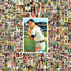 1957 Topps Baseball Cards Complete Set Collage. Playing For Keeps, Kids Playing, Baseball Quotes, Baseball Cards, Picture Collages, Field Of Dreams, Just A Game, Old Games, Sports Pictures