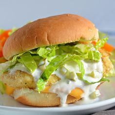 Fish Fillet Sandwich with Homemade Tartar Sauce - yummy. Made tartar sauce with dill pickle relish and added 1 tsp. Next time - the recipe! Fish Dishes, Seafood Dishes, Seafood Recipes, Dinner Recipes, Cooking Recipes, Main Dishes, Recipes For Lent, Fried Fish Recipes, Tilapia Recipes