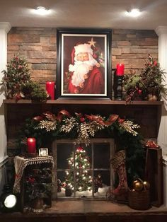 Looking for for images for farmhouse christmas tree? Check this out for very best farmhouse christmas tree images. This kind of farmhouse christmas tree ideas seems entirely excellent. Diy Christmas Fireplace, Christmas Mantels, Farmhouse Christmas Decor, Noel Christmas, Country Christmas, Christmas Crafts, Christmas Budget, Victorian Christmas, Christmas Christmas