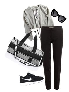 """""""Gym time"""" by lovelygirll6 ❤ liked on Polyvore featuring Etro, NIKE and Karen Walker"""