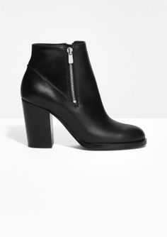 & Other Stories | Double Zip Leather Boots