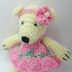 This beautiful amigurumi teddy bear is waiting for you!