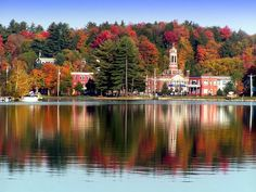 Saranac Lake, NY in the Fall/// This is where my father in law was from