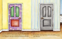 Every door has two sides but the sides on this one were very different. www.balboapress.com