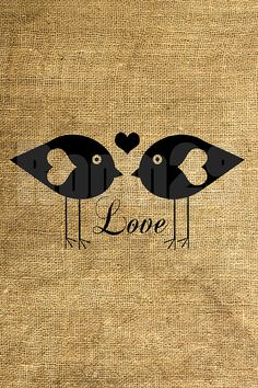 Love Birds Illustration  Download and Print  Image by room29, $3.00