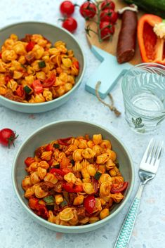 Batch Cooking, Cooking Recipes, Appetizer Recipes, Appetizers, Chorizo, Pasta, Chana Masala, Vegetarian Recipes, Curry
