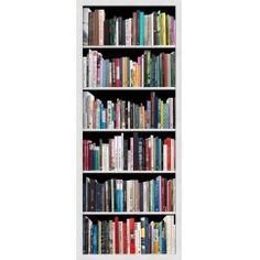 Cestickers déco est un stickers pour porte représentant une bibliothèque en trompe-l'oeil avec de livres anciens : Réf : 141022 Dimensions standard : 83 x 204 cm.