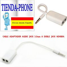 Cable audio SPLITTER jack macho dos hembras 3.5mm para htc huawei lg xperia