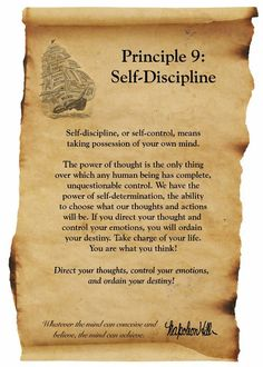 Self- Discipline