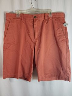 Tommy Hilfiger Men's Red Cotton Chino Classic Fit Shorts Size 38 NWOT #TommyHilfiger #CasualShorts