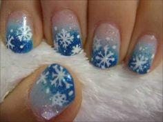 Winter Snowflake Nail Tutorial