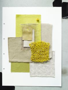 Piet Boon Styling by Karin Meyn | A color palet with different shades of yellow.