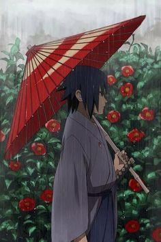 Naruto - Sasuke in the rain