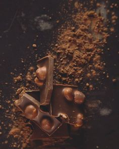 #productphotography #chocolate #wallnuts #cocoa #powder #brown #sweet #studiophotography #delicious