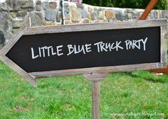 Little Blue Truck Birthday Party via earningourstripes.blogspot.com