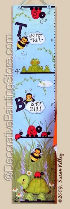 Bizzy Bees Growth Chart ePacket - Susan Kelley - PDF DOWNLOAD