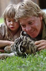 Steve Irwin - when you spend all your time dancing on the edge of a precipice you sometimes fall over.