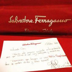 ❤️ Gracias @ferragamo! Mi primer regalo de cumpleaños!