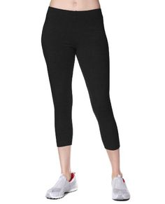 Okay ladies -- the time has come. You know you want a pair, you have just been putting it off, hoping maybe they will go away - but the fashionistas say otherwise. Leggings. And we have the perfect pair for you. Danskin low rise cropped leggings. Comfort fabric (92% cotton 8% spandex) with a superb stretch fit that offers compression through the hips and thighs for a fitted, flattering look.  Breatheable cotton keeps you cool and a stylish lo...
