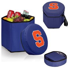 Picnic TimeBongo Cooler-Navy (Syracuse University Orange) Digital Print The Bongo Cooler is a convenient 12-quart collapsible cooler that is strong enough to use as a seat. Great for the park, the be