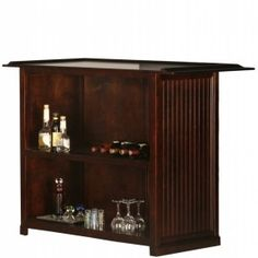 Eagle furniture coastal entertainment bar - transitional - wine and bar cabinets - by eagle furniture How To Make Drinks, Countertop Materials, Types Of Doors, Wine Storage, Bar Set, Bar Furniture, Bars For Home, Small Spaces, Home Improvement