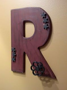 How to make a towel hook using wooden letters!