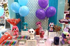 Set out Beanie Boos & frame the description of each for decoration!  CUTE!  BeanieBoo_DessertsCupcakes32