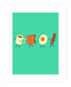Let's All Go Have Breakfast Art Print