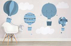 kids-blue-bunny-and-balloons-nursery-room