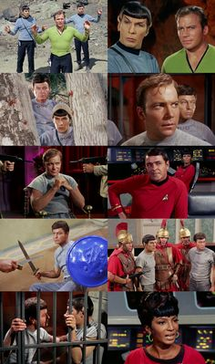 Captain Kirk, Spock, and McCoy are taken prisoner on a planet that parallels earth's Roman Empire. The leaders insist that the existence of their society must remain undisclosed to the outside world, and they order Kirk to command his crew to abandon ship and integrate themselves into the culture or be executed. Kirk refuses, and Spock and McCoy are thrown into the gladiatorial games. From Bread and Circuses (Star Trek)