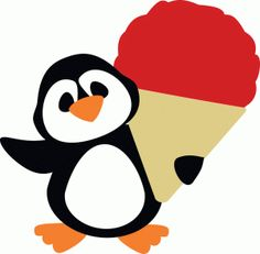 Silhouette Design Store - View Design #44311: snow cone penguin