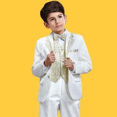 Enfants Tuxedo / Veste / Vetements De Performance / Petits Costumes Fixes / Anneau Porteur Costumes [2415030006] - Veaul.com