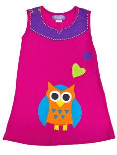 Vestido para niñas Buhita cariñosa, en rosa y azul, bordado a mano, hecho de algodón. Fresco y delicado. Funny Baby Clothes, Kids Frocks, Hippie Outfits, Craft Organization, Ethnic Fashion, Baby Dress, Sewing Patterns, Tank Tops, Crochet