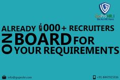COMPANIES  Search for HR verified recruiters & be assured for all the credentials mentioned by recruiters are verified with supporting document. REGISTER NOW