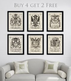 Heraldry coat of arms dictionary art by OldBookNewArt on Etsy