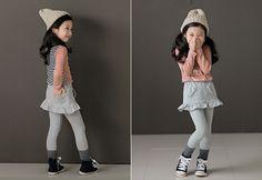 Korea children's No.1 Shopping Mall. EASY & LOVELY STYLE [COOKIE HOUSE] Charlotte Skirt leggings / Size : 7~19 / Price : 18.83 USD #cute #koreakids #kids #kidsfashion #adorable #COOKIEHOUSE #OOTD #leggings #skirtleggings