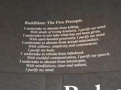 buddhism, 5 precepts