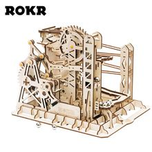 ROKR DIY Lift Roller Coaster Marble Run Building Set Assembly Model Construction