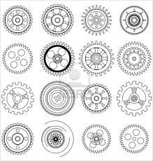 steampunk gears clear stamp pmc scrapbooking by. Black Bedroom Furniture Sets. Home Design Ideas