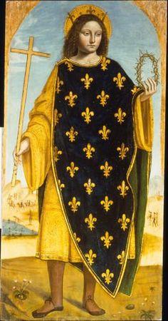Bergognone (Ambrogio da Fossano detto) - San Luigi IX (scomparto Polittico di san Bartolomeo) - 1515-1520 - Accademia Carrara di Bergamo Pinacoteca